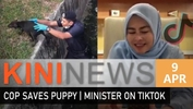 #KiniNews: Heroic cop rescues puppy | Minister organises TikTok contest