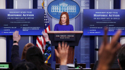 White House Press Secretary Jen Psaki takes questions from journalists in the James S Brady Press Briefing Room at the White House, after the inauguration of Joe Biden as the 46th President of the United States, U.S., January 20, 2021. - REUTERS/Tom Brenner