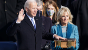 Joe Biden is sworn in as the 46th President of the United States on the West Front of the U.S. Capitol in Washington, U.S., January 20, 2021. - REUTERS/Kevin Lamarque