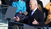 U.S. President Joe Biden delivers his speech after he was sworn in as the 46th President of the United States on the West Front of the U.S. Capitol in Washington, U.S., January 20, 2021. - REUTERS/Kevin Lamarque