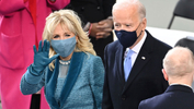 President-elect Joe Biden and his wife Jill Biden arrive for the 59th Presidential Inauguration at the U.S. Capitol for Biden in Washington, Wednesday, Jan. 20, 2021. - Saul Loeb/Pool Photo via AP